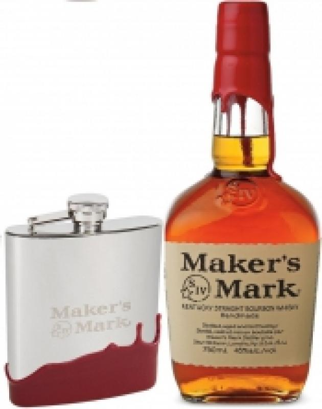 "Maker's Mark"" with flask"
