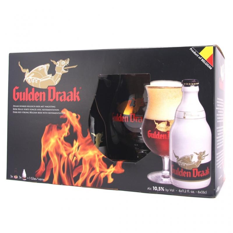 """Gulden Draak"", gift set (6 bottles & glass)"