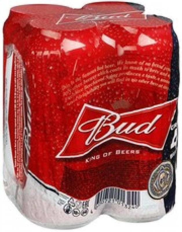 """Bud"", set of 4 cans"