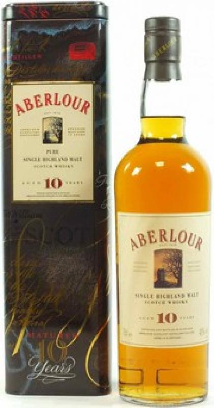 Aberlour 10 Years Old, metal box