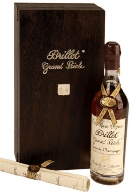 "Brillet, ""Tres Rare Grand Siecle"", Grande Champagne, wooden box"