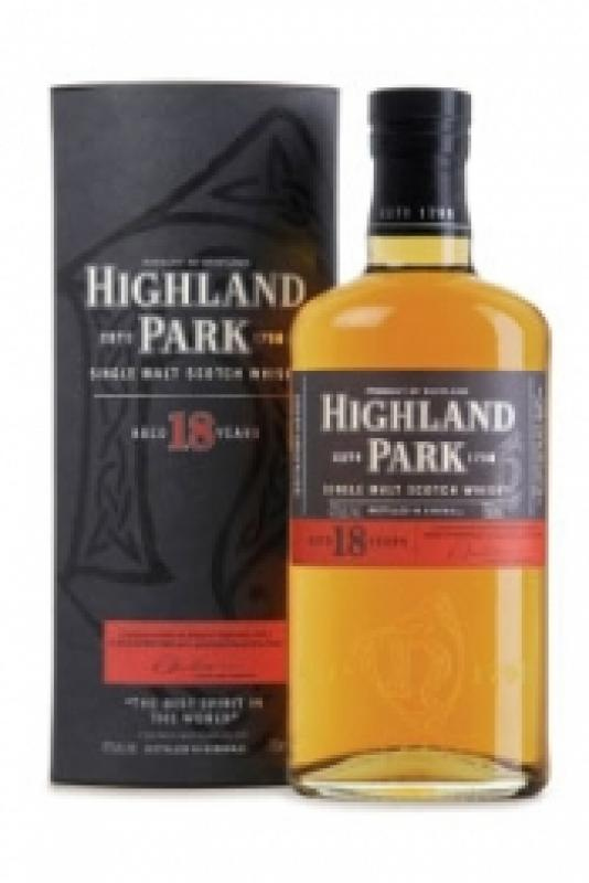 Highland Park 18 Year Old, with box