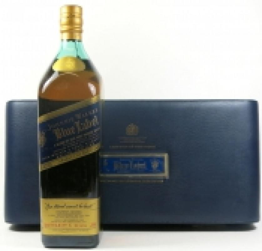 "Johnnie Walker, ""Blue Label"", leather box"
