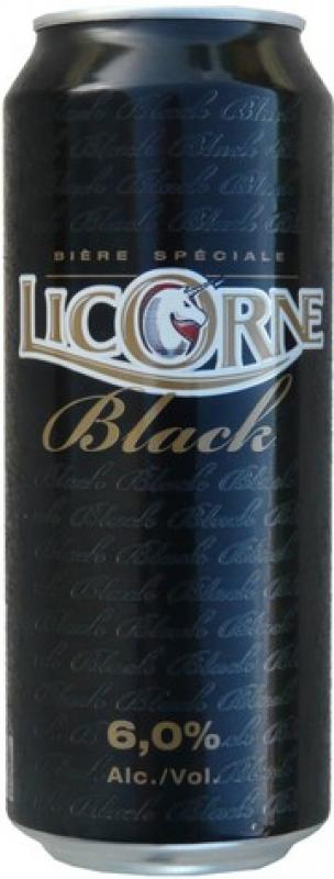 Licorne Black, in can