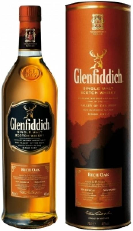 "Glenfiddich, ""Rich Oak"" 14 Years Old, in tube"