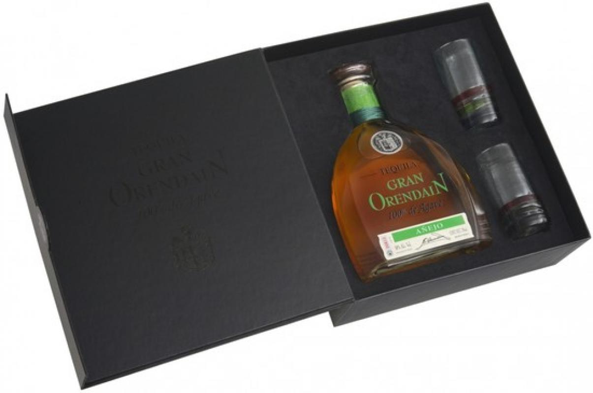 """Gran Orendain"" Anejo, gift box with 2 glasses"