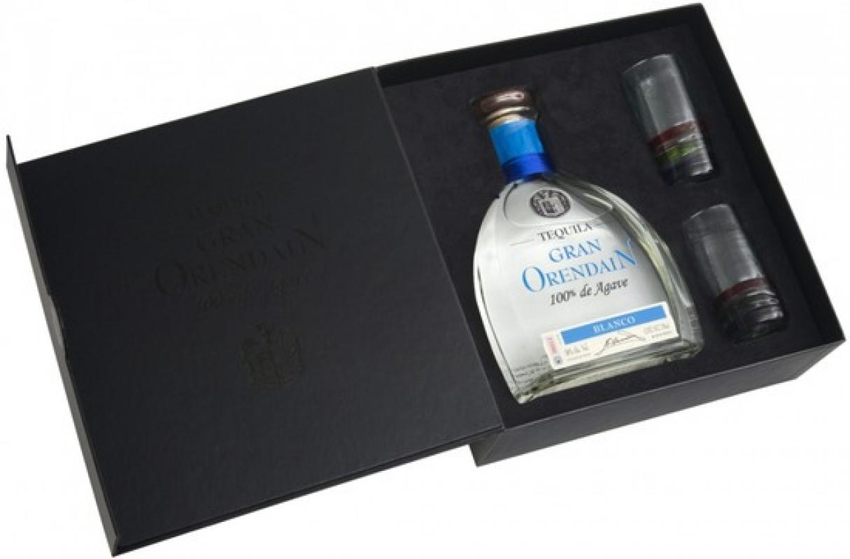 """Gran Orendain"" Blanco, gift box with 2 glasses"