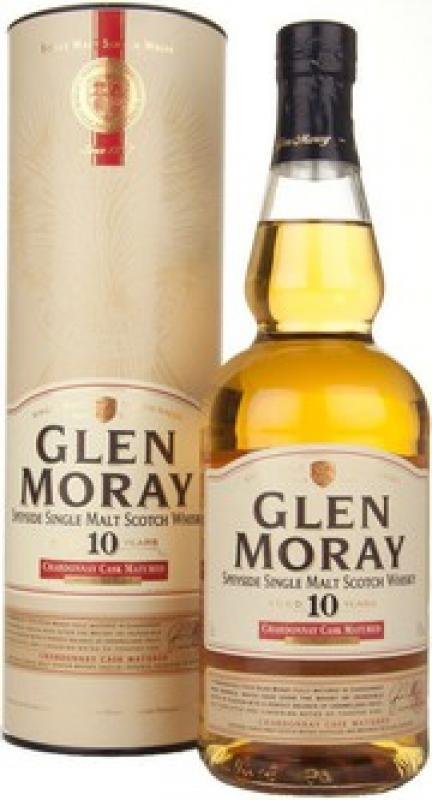 """Glen Moray"" 10 YO, Chardonnay Cask Matured, gift tube"