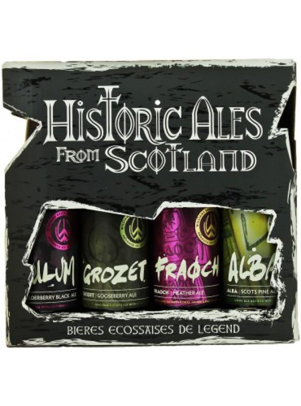 """Historic Ales from Scotland"", gift set (4 bottles)"