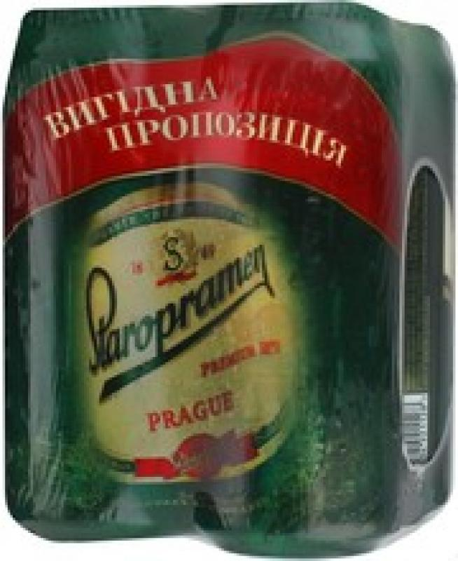 """Staropramen"" Premium, set of 4 can"