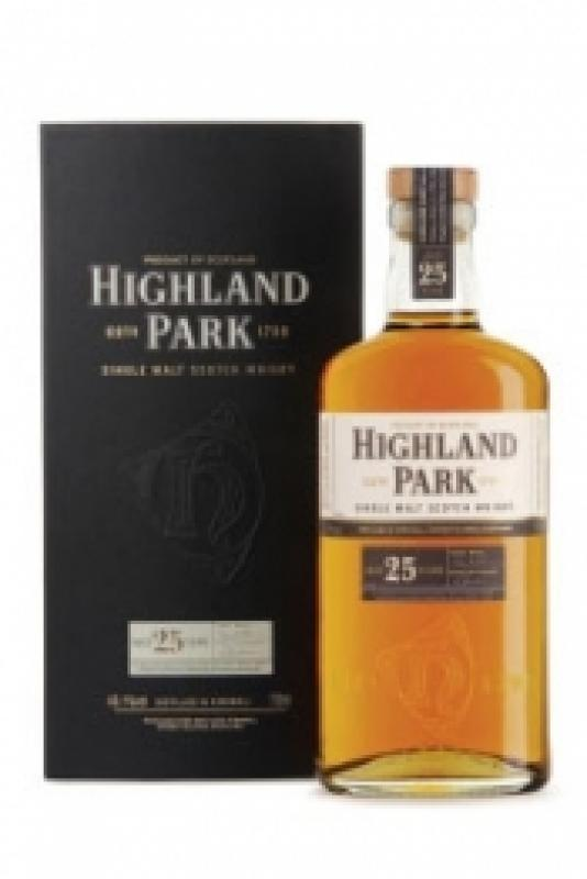 Highland Park 25 Year Old, with box