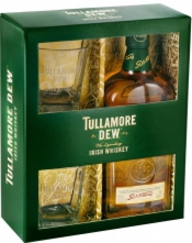 Tullamore Dew, gift box with 2 glasses