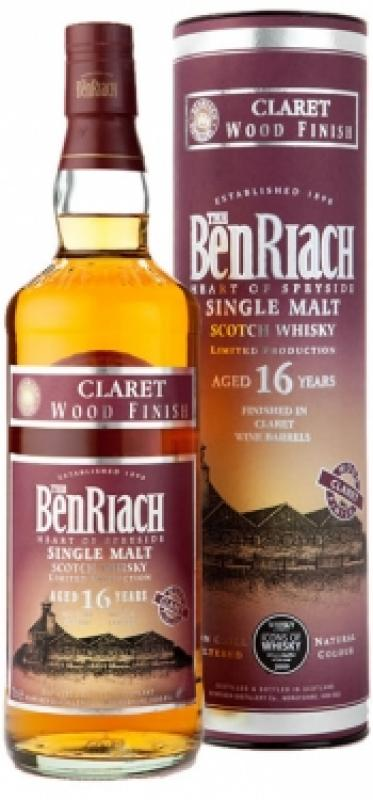 """Benriach """"Claret Wood Finish"""" 16 years old, in tube"""