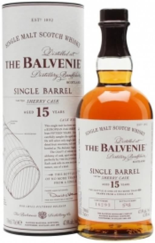 "Balvenie ""Single Barrel"" Sherry Cask, 15 Years Old, in tube"