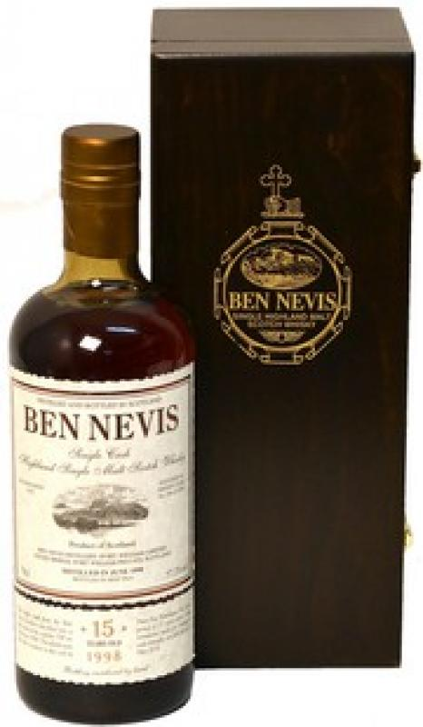 """Ben Nevis"" 15 Years Old, wooden box"