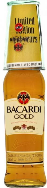 """Bacardi"" Gold, with glass"