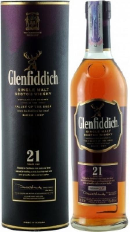 Glenfiddich 21 Years Old, in tube