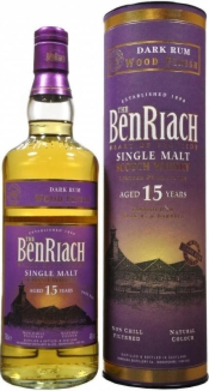 Benriach, Dark Rum Wood Finish 15 years old, in tube