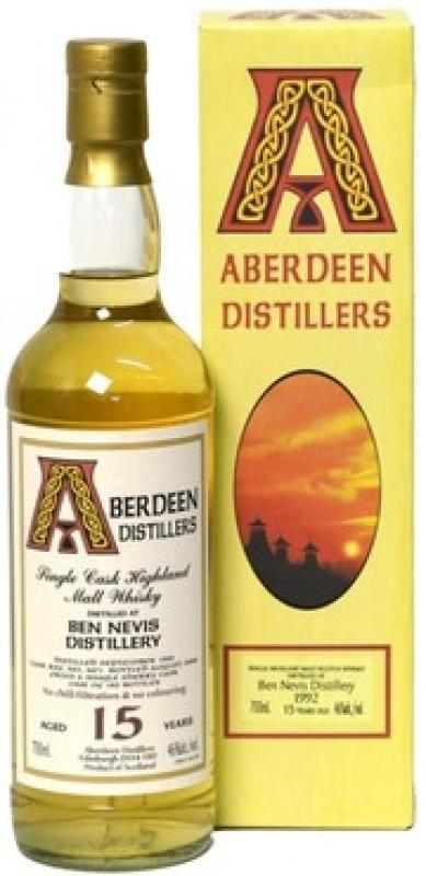 """Aberdeen Distillers"" Ben Nevis 15 Years Old, 1992, gift box"