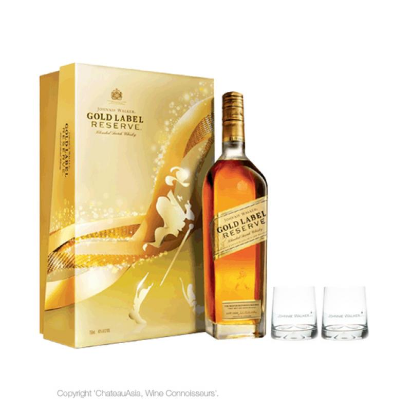Gold Label Reserve, gift box with 2 glasses