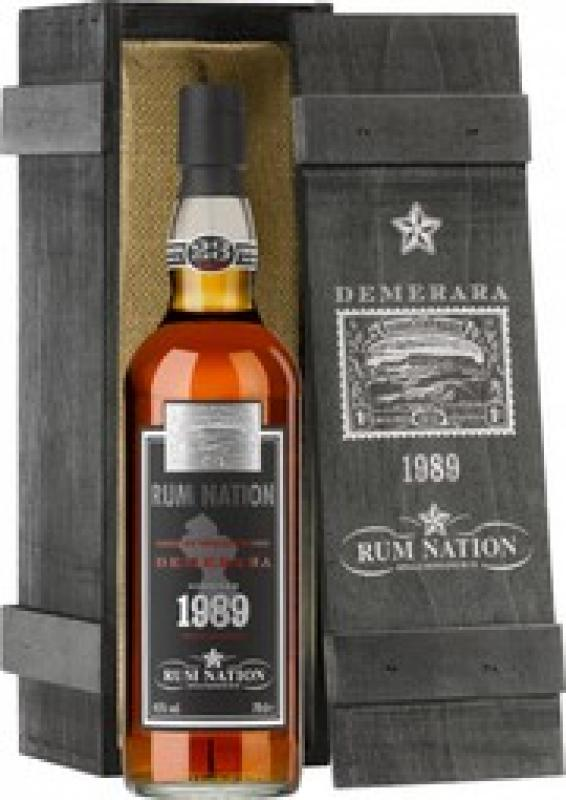 """Rum Nation"", Demerara 23 Years Old, wooden box"
