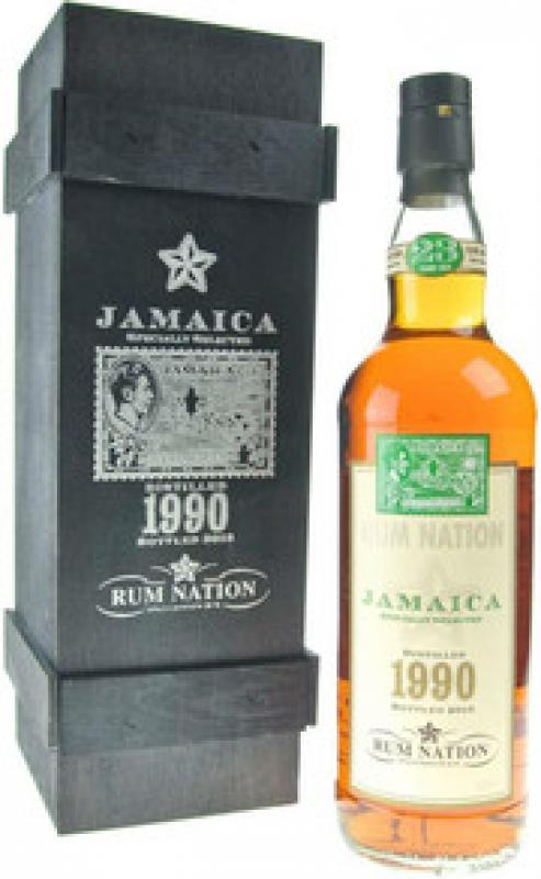 """Rum Nation"", Jamaica 23 Years Old, 1990, wooden box"
