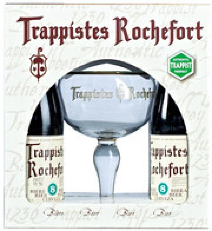 """Trappistes Rochefort 8"", gift set (4 bottles & glass)"