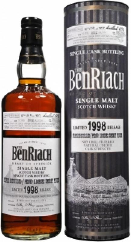 Benriach Triple Distilled / Pedro Ximenez Sherry Finish, 16 Years Old, 1998, in tube