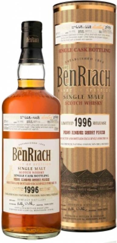 Benriach Pedro Ximenez Sherry Finish, 18 Years Old, 1996, in tube