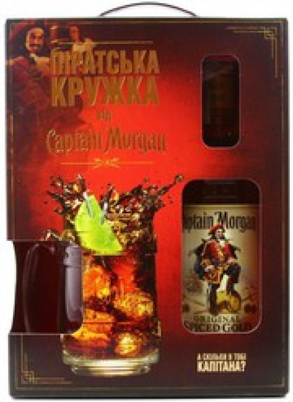 """Captain Morgan"" Spiced Gold, gift box with mug"