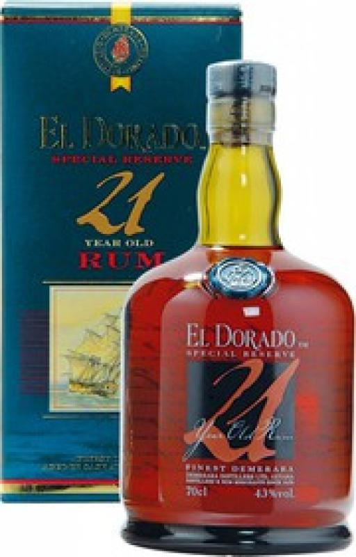"""El Dorado"" Special Reserve 21 Years Old, gift box"