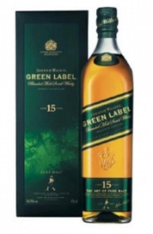 Green Label Vatted Malt 15 years old, with box