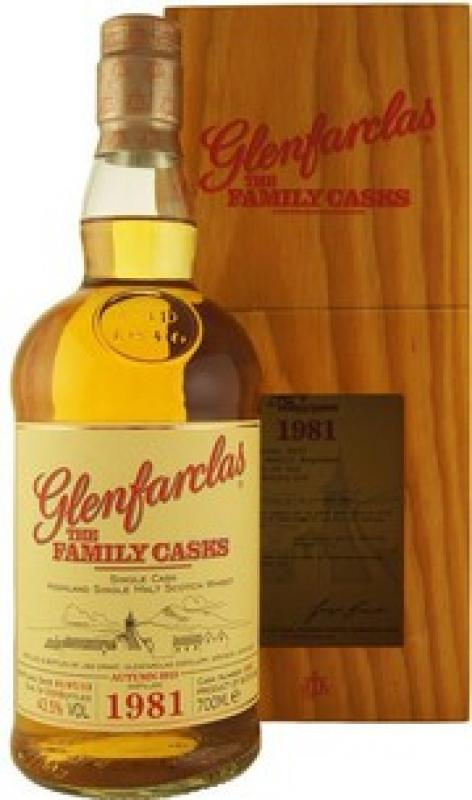 Glenfarclas 1981 Family Casks, in wooden box