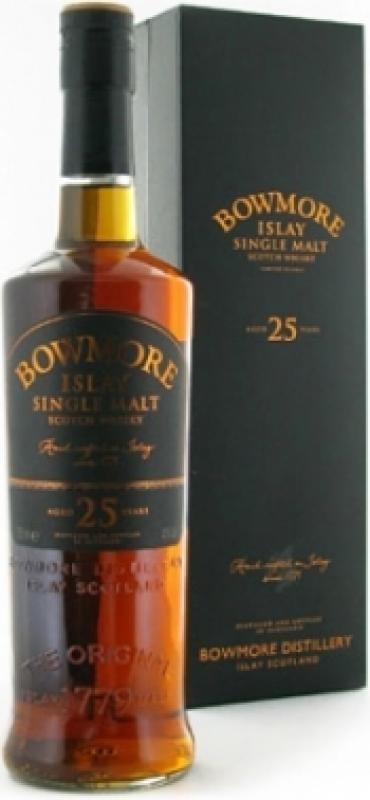 Bowmore 25 Years Old, gift box