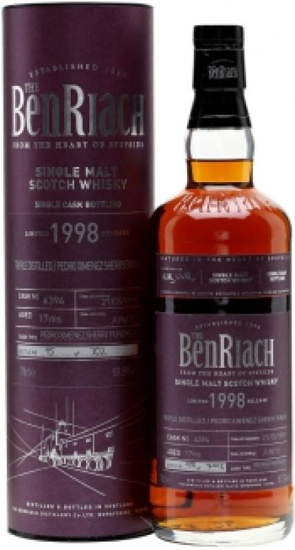 "Benriach ""Pedro Ximenez Sherry Finish"" Triple Distilled, 17 Years Old, 1998, in tube"