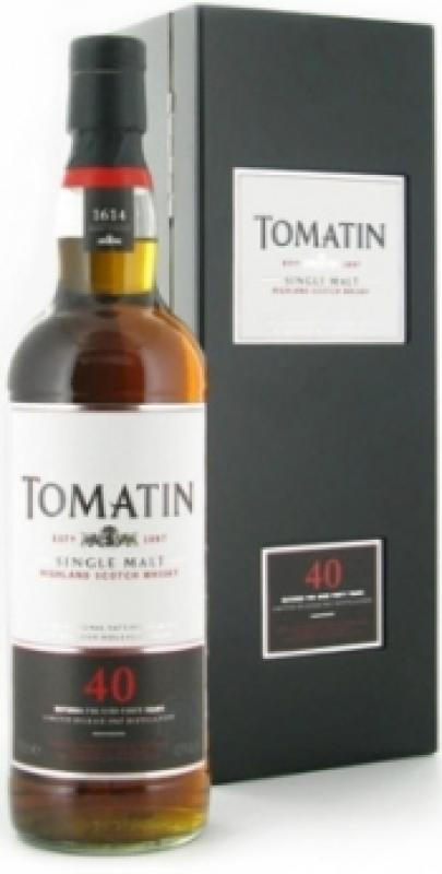 Tomatin 40 years old, gift box
