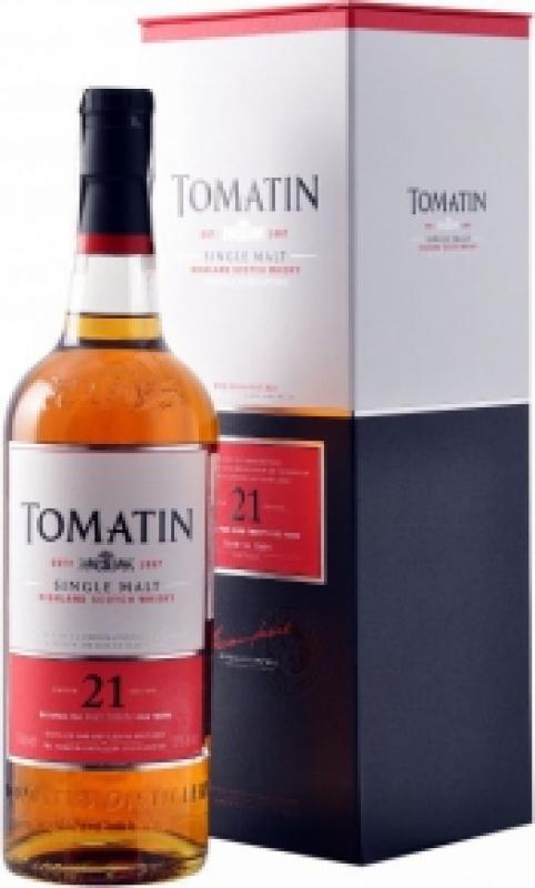 Tomatin 21 Years Old, gift box
