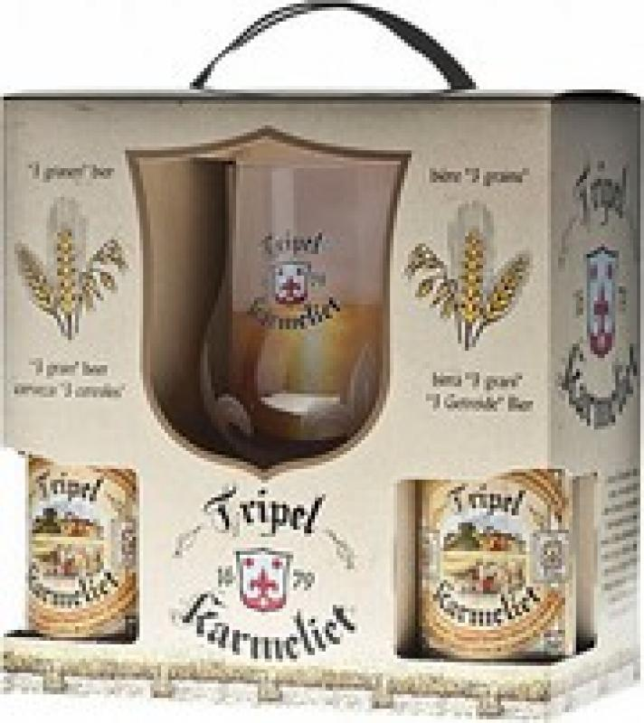 "Bosteels, ""Tripel Karmeliet"", gift set (4 bottles & glass)"