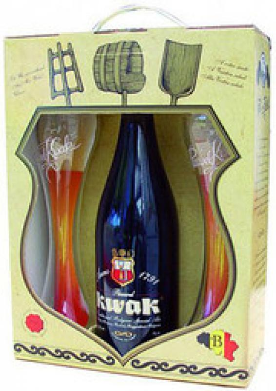 "Bosteels, ""Pauwel Kwak"", gift box with 2 glasses"