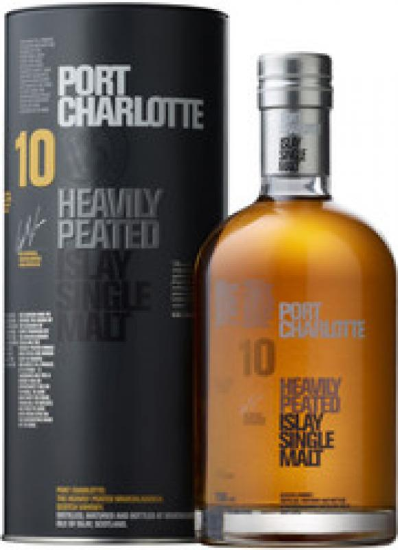 "Bruichladdich, ""Port Charlotte"" 10 Years Old, in tube"