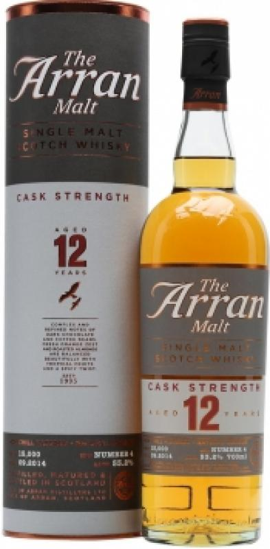 Arran 12 years, Cask Strength (Batch №4), in tube
