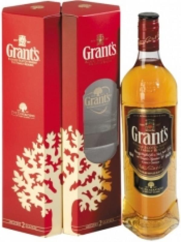 Grant's, Family Reserve, gift box with 2 glasses