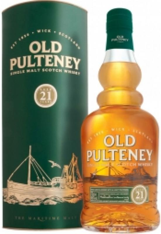 Old Pulteney 21 Years Old, gift box