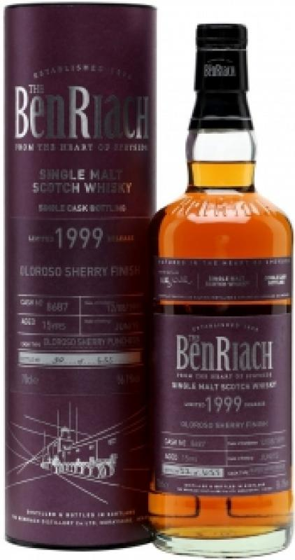 "Benriach ""Oloroso Sherry Finish"", 15 Years Old, 1999, in tube"