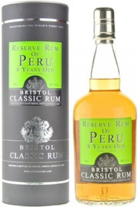 Bristol Classic Rum, Reserve Rum of Peru, 8 Years Old, in tube