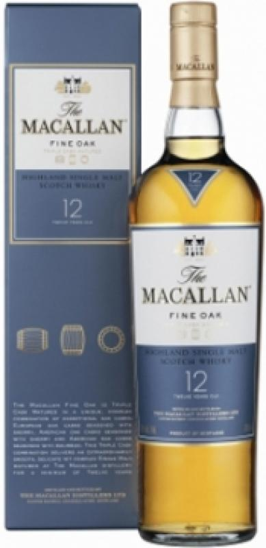 Macallan Fine Oak 12 Years Old, with box