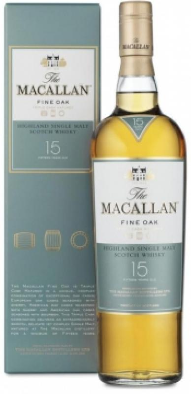 Macallan Fine Oak 15 Years Old, with box