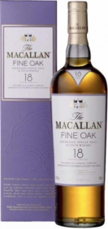 Macallan Fine Oak 18 Years Old, with box
