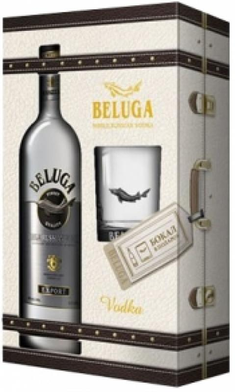 """Beluga"" Noble, gift box with glass"