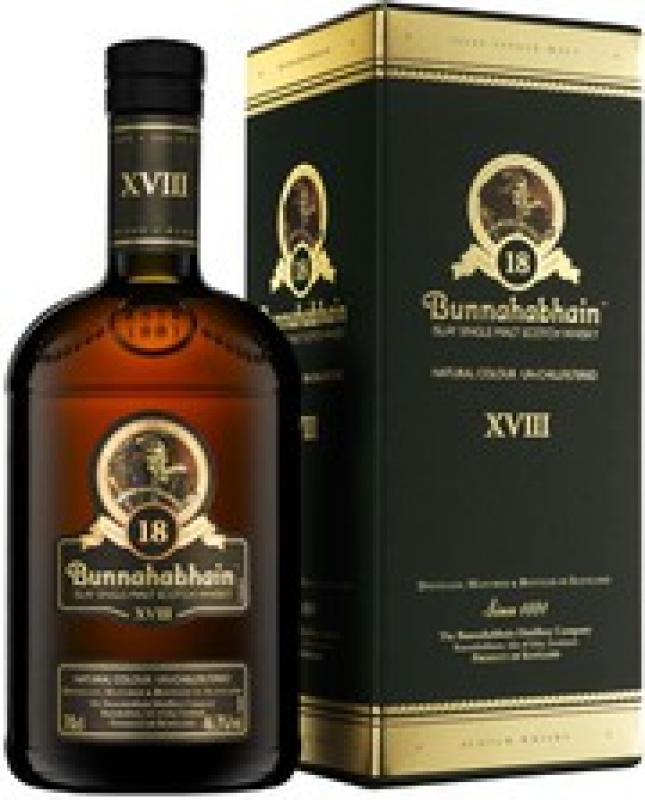 Bunnahabhain aged 18 years, gift box